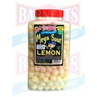 BARNETTS MEGA SOUR  Mega Sour Lemon 3kg  jar