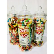 Sweet Victorian 1 Large Jar of jelly mixed Fruit Flavour Gums party sweets 1.7 KG
