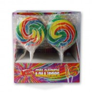Mixed Fruit Flavour Hard Candy Round Lollies 55g X Pack Of 12 Ideal For Party's