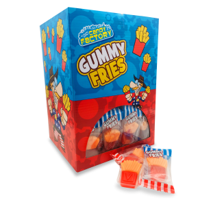 Crazy Candy Factory Mini Gummy Fries 10g A Great Novelty Sweet 100 In Each Box