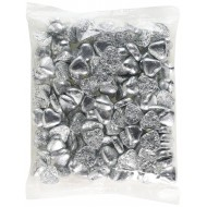 Milk Chocolate Silver Foiled Caramel Filled Hearts Valentine 1kg Bag