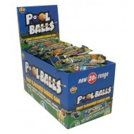 Zed Candy Pool Balls Bubble Gum Fruit Flavoured Sweets Box Of 45 Units