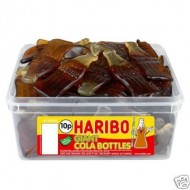 Haribo Giant Cola Bottles 60 Piece Tube