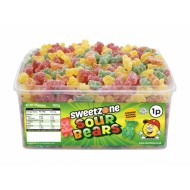 Sweetzone Sour Bears Halal Hmc Tub 600 Pcs