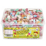 Sweetzone Tangy Mix Vegan Tub Hmc Approved 100% Halal, 600 Pieces