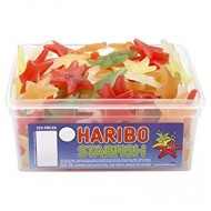 HARIBO STARFISH FRUIT FLAVOURED JELLY PIECES - 120 PACK SUITABLE FOR VEGETARIANS