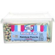 Vidal Rainbow Pencils (Pack of 1, Total 100 Pieces)
