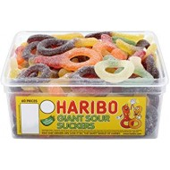 HARIBO GIANT PLAIN SUCKERS 60 PIECES