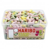 HARIBO RHUBARB & CUSTARD CANDY PIECES - 600 PACK