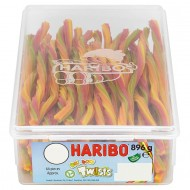 HARIBO RAINBOW TWISTS FRUIT FLAVOURED GUMS - 64 PACK SUITABLE FOR VEGETARIANS