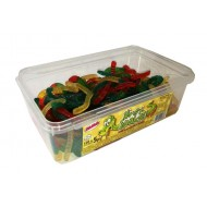 Alma Slimey Snakes Jelly  HALAL Sweets 120 Pcs In Tub