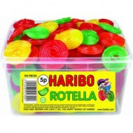 HARIBO ROTELLA FRUIT FLAVOURED GUMS - 120 PACK SUITABLE FOR VEGETARIANS