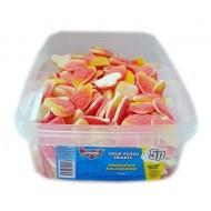 Heavenly Delights Sour Peach Hearts Tub Of 120 Pcs *Halal Hmc Certified