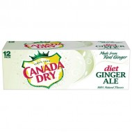 Canada Dry Diet Ginger Ale, American 12 Fl Oz Cans, 12 Pack
