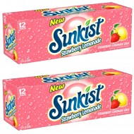 Sunkist Strawberry Lemonade 12 12 Fl Oz American Cans (Pack Of 24)