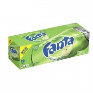 Fanta Green Apple Flavoured Soda 355ml American (Pack Of 24 )