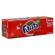 Fanta Caffiene Free Strawberry Soda 355 Ml (Pack Of 12) American Import Usa Soda