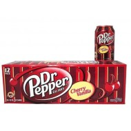 Dr Pepper Cherry Vanilla 12 Oz Cans 12 Pack 144 Oz By American Import Usa Soda