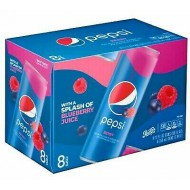 Pepsi Berry Splash Of Blueberry Juice 12oz 355ml 8 Can Imported-usa