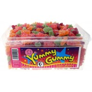 Halal Yummy Gummy Jelly Halal Fizzy Teddy Bears (Tub Of 600)
