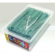 Yummy Gummy Fizzy Blue Raspberry Belts Suitable For A Halal Full Tub 1