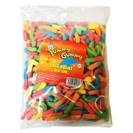 Yummy Gummy Halal Sour Worms 1kg Bag