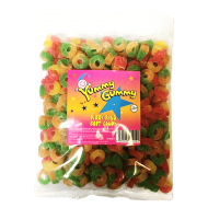 Yummy Gummy Halal Fizzy Rings 1kg Bag