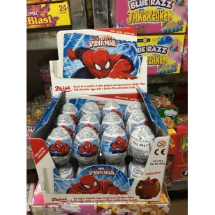 Zaini Disney Spider Man Chocolate Eggs Surprise Eggs With Toy Inside 12 Pieces
