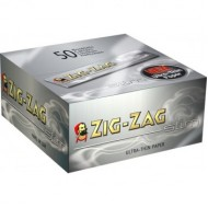 Zig Zag King Size Slim Silver Papers 50 Booklets Per Box