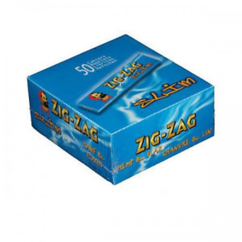 Rolling Papers Box Of 50 Booklets Zig Zag King Size Blue